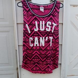 Like new! VS PINK aztec tank/muscle top ❣️